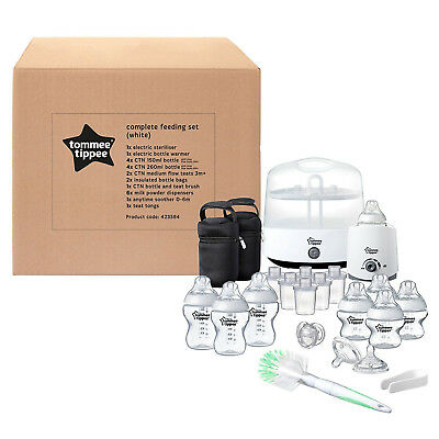 Tommee Tippee Newborn Baby Complete Feeding Set White Sterilizer Baby Products