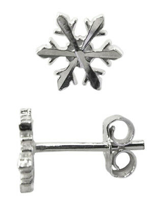1 PAIR OF SOLID 925 STERLING SILVER SMALL STAR STUD EARRINGS J064