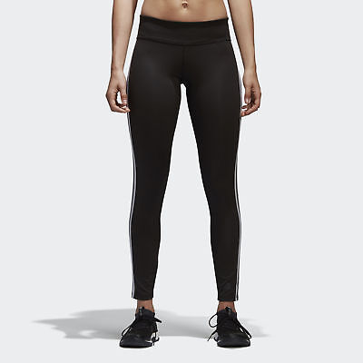 adidas D2M Three Stripes Long Tights Women's Black
