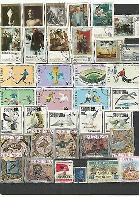Albania 36 CTO & Used  Stamps,  Nice Lot. ,  See Scan