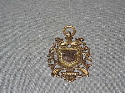 Antique 1909 Chester 9ct Rose Gold Large Pierced Design Watch Fob / Medal 10.46g