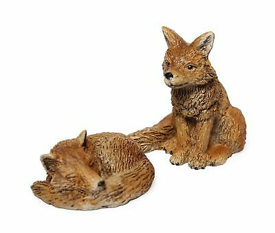 Miniature Fairy Garden Set of Foxes - Buy 3 Save $5