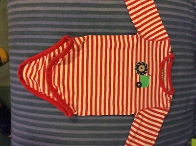 frugi long sleeve striped top 18-24 months