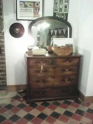GEORGIAN mahogany  CHEST OF DRAWERS 2 OVER 3