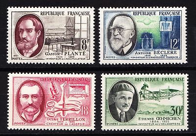 France 1957 French Inventors (2nd series) - MNH Set of 4 - Cat £8 - (66)