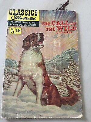 "CLASSICS ILLUSTRATED #91 ""The Call of the Wild"" by Jack London (1952)"