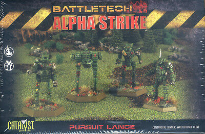 BattleTech Alpha Strike Pursuit Lance mit 4 Plastikfiguren /4 plastic miniatures