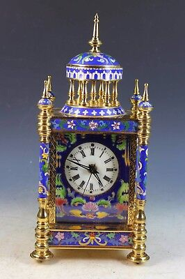 Vintage Chinese Export Cloisonne Clock