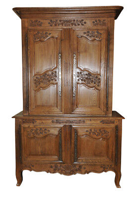 Antique French Country Cabinet Normandy Oak Elegant Beauty, 18th Century