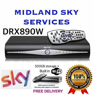 Sky Plus + Hd Box Drx890W Amstrad Box Only Deal 500Gb Slimline Box Wifi Built In