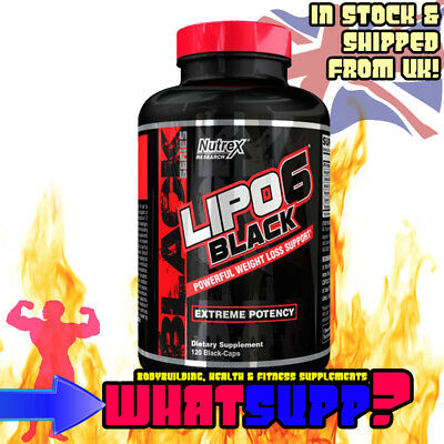 Nutrex LIPO 6 BLACK 120 Weight Loss Support EXTREME FAT DESTROYER BURNER Lipo6