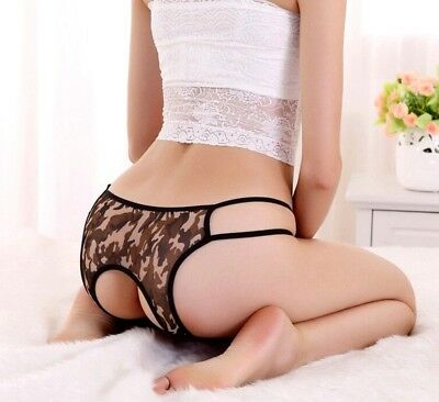 Sexy lingerie ouverte culotte taille S/M - Opened lingerie Camouflage army panty