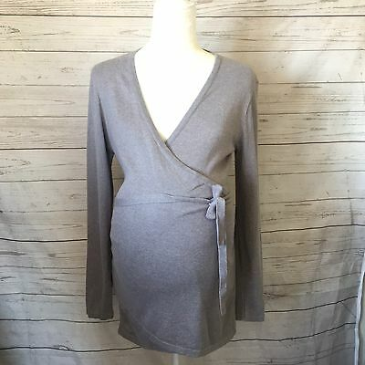 ASOS Maternity Wrap Sweater Top Gray Size 8 US