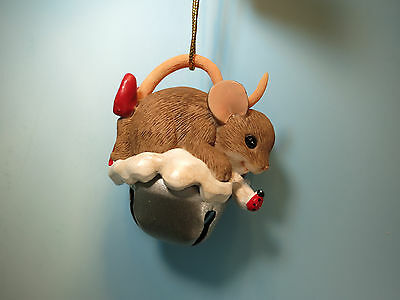 CHARMING TAILS-Sharing A Little Jingle With You- Silver  Bell  Holiday Ornament-