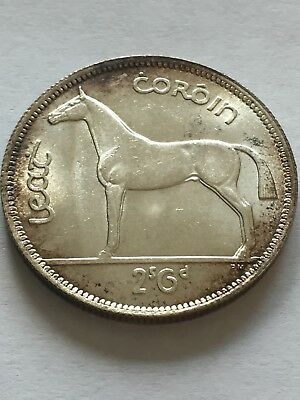 Ireland Republic Silver 1942 1/2 Crown Amazing toning and appearance