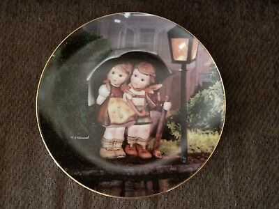 """M.J. Hummel Collector Plate, Danbury Mint  """"Stormy Weather"""" with Certificate"""