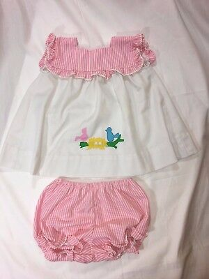 Vintage Betti Terrell for Lord + Taylor Outfit - Dress & Bloomers Pink 18-24 Mos