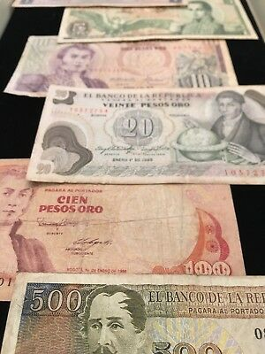 COLOMBIA  Paper Money Lot  6 DIFFERENT
