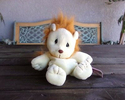 Precious Moments Tender Tails Lion Bean Bag Plush Doll  Vintage Enesco