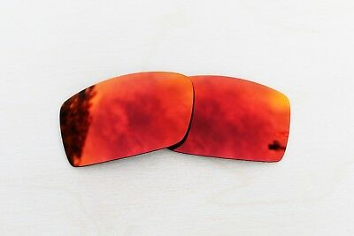 New Polarized Replacement Lenses for Oakley Gascan Sunglasses Fire Red Iridium
