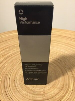 NEW Anthony High Performance Vitamin A Hydrating Facial Lotion 1.6oz Mens Men's