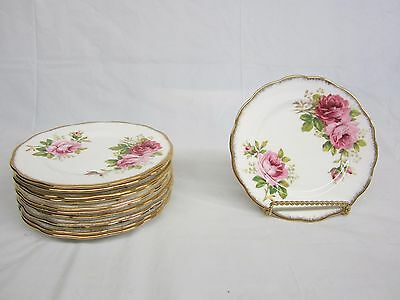 Lot of 12  Royal Albert American Beauty  Bread and Butter Plates 6.25 inches
