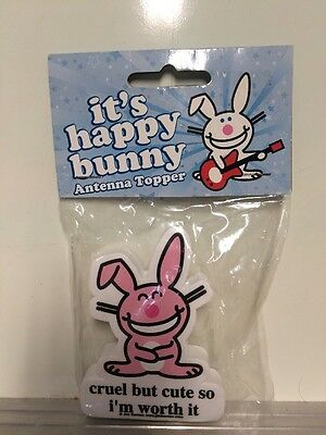 It's Happy Bunny Antenna Topper (Cruel But Cute So I'm Worth It)New In Package!