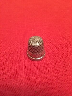 Silver Sterling Thimble