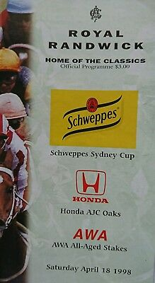 1998 Sydney Cup Race Book (Tie the Knot, Doriemus )