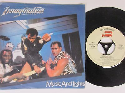 """IMAGINATION -Music And Lights- 7"""" Red Bus Rec. Disco-Hit"""