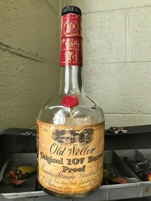 Old Weller Original 107 Proof 4/5 Bottle - Low 3 digit serial number
