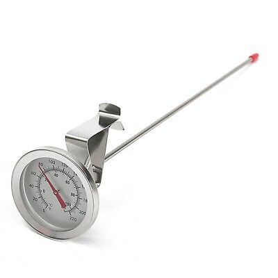 "12"" Long Probe Food Grade S.Steel Dial Thermometer for Home brew Cheese Making"