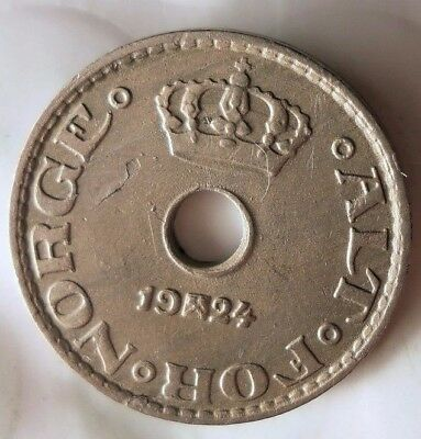 1924 NORWAY 10 ORE - Excellent Collectible Coin - FREE SHIP - Norway Bin BB