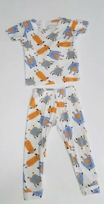 Carters baby boy 2t pajamas white with blue orange gray monsters shirt and pants