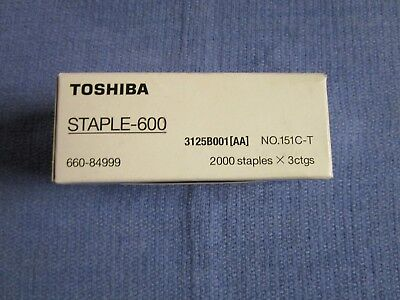 Genuine Toshiba Staple 600 ( Box of three cartridges )