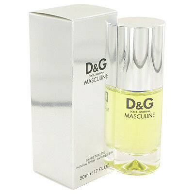 D&G Masculine by Dolce & Gabbana 50ml EDT Spray for Men Sealed Box Discontinued