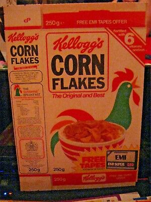 1983 Kelloggs Corn Flakes Cereal Box Old Vintage U.k.  Scarce #2 !