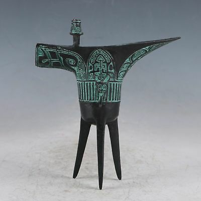 Chinese Bronze Animal Goblet Wine Cup QT0005