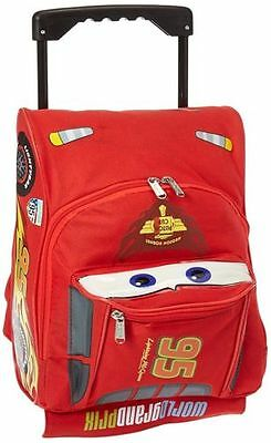 "New Disney Pixar Cars 2 Rolling Lightning McQueen 12"" Luggage Suitcase"