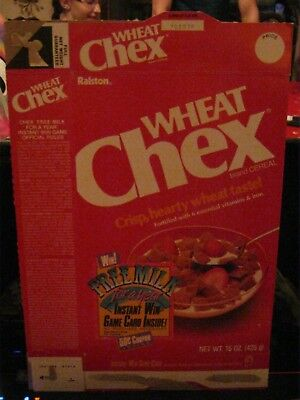 1985 Ralston Wheat Chex Cereal Box Old Vintage  !