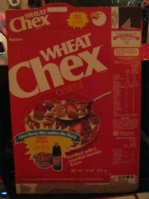 1983 Ralston Wheat Chex Cereal Box Old Vintage  !