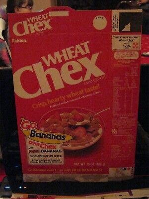 1984 Ralston Wheat Chex Cereal Box Old Vintage   !