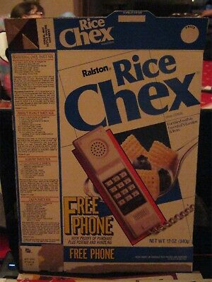 1986 Ralston Rice Chex Cereal Box Old Vintage  Free Phone Offer !