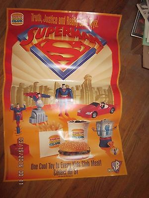 RARE SUPERMAN BURGER KING ADVERTISING  POSTER warner bros