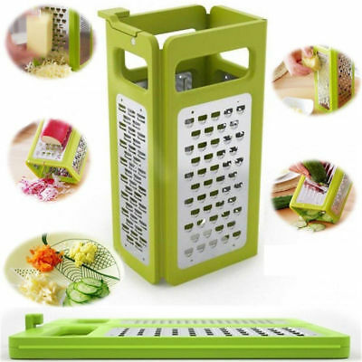 4 in 1 Graters Box Fxied 4-Sided Kitchen Vegetable Cheese Slicer Collecting Tank