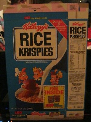 1985 Kelloggs Rice Krispies Cereal Box Old Vintage Free Stickers !