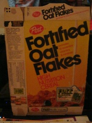 1979 Post Fortified Oat Flakes Cereal Box Old Vintage  !