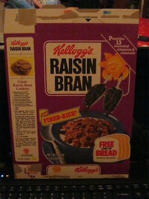 1987 Kelloggs Raisin Bran Free Bread Offer Old Vintage  !