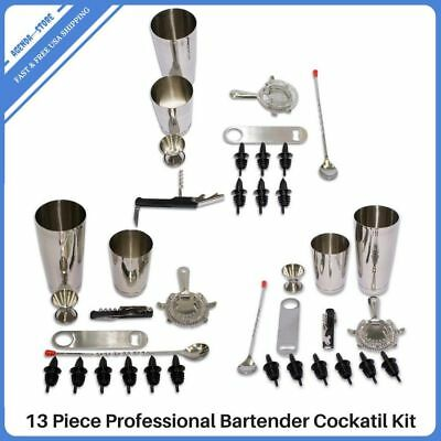 Cocktail Shaker Mixer Set Stainless Steel Professional Drink Tools Bartender Kit