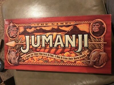 1995 Complete Jumanji The Game Milton Bradley Board Game